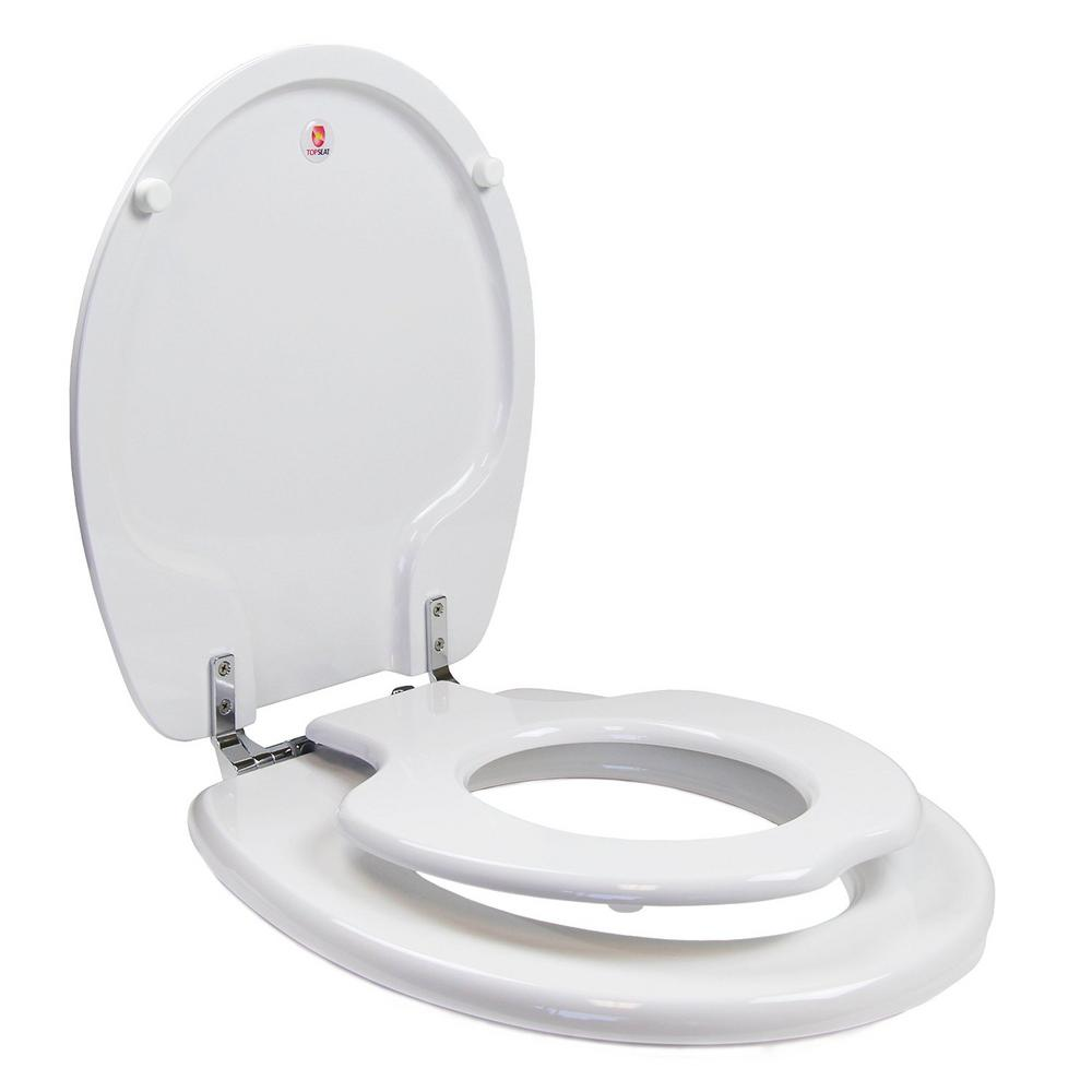 TinyHiney Childrens Round Closed Front Toilet Seat In White
