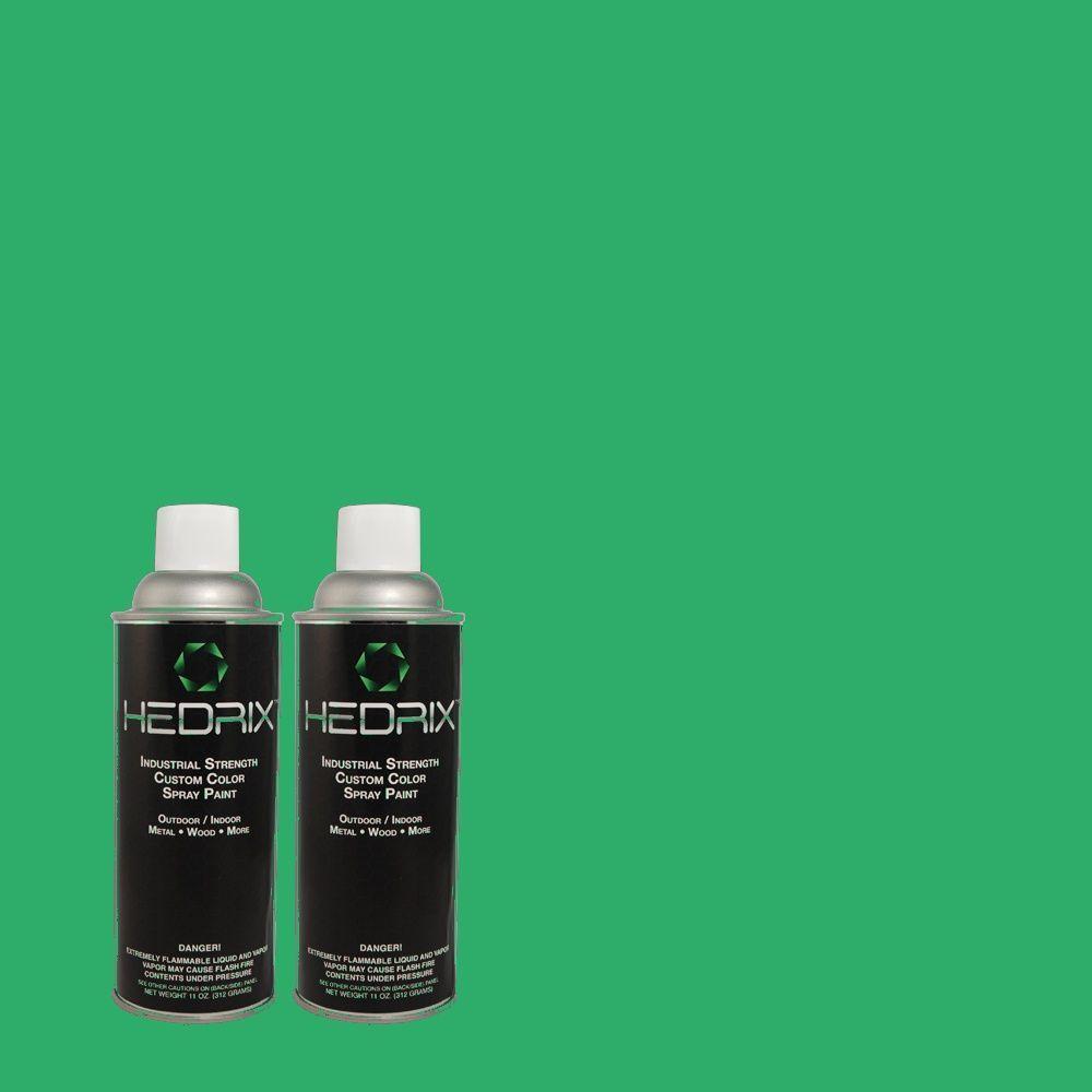 Hedrix 11 oz. Match of 470B-5 Garden Medley Flat Custom Spray Paint (2-Pack)