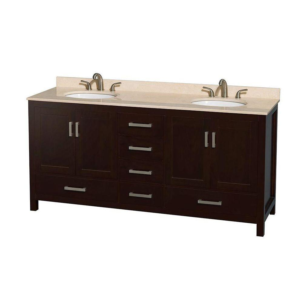 Wyndham Collection Sheffield 72 In Double Vanity In