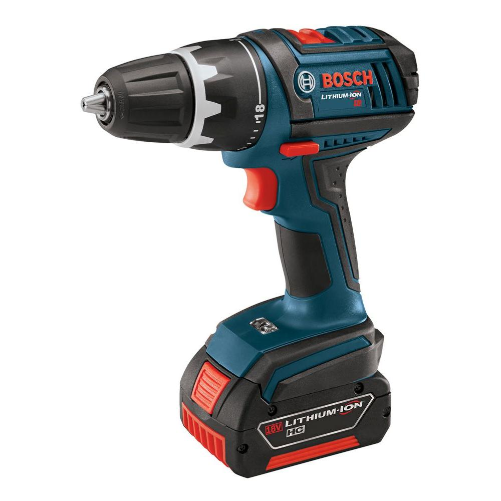 Bosch 18-Volt Compact Tough Drill Driver with (1) 1.5 Ah and (1) 3.0 Ah Batteries