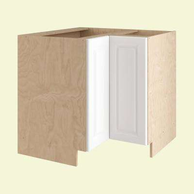 Anzio Ready to Assemble 36 x 34.5 x 24 in. Easy Reach Base Corner Cabinet with 2 Doors in Polar White