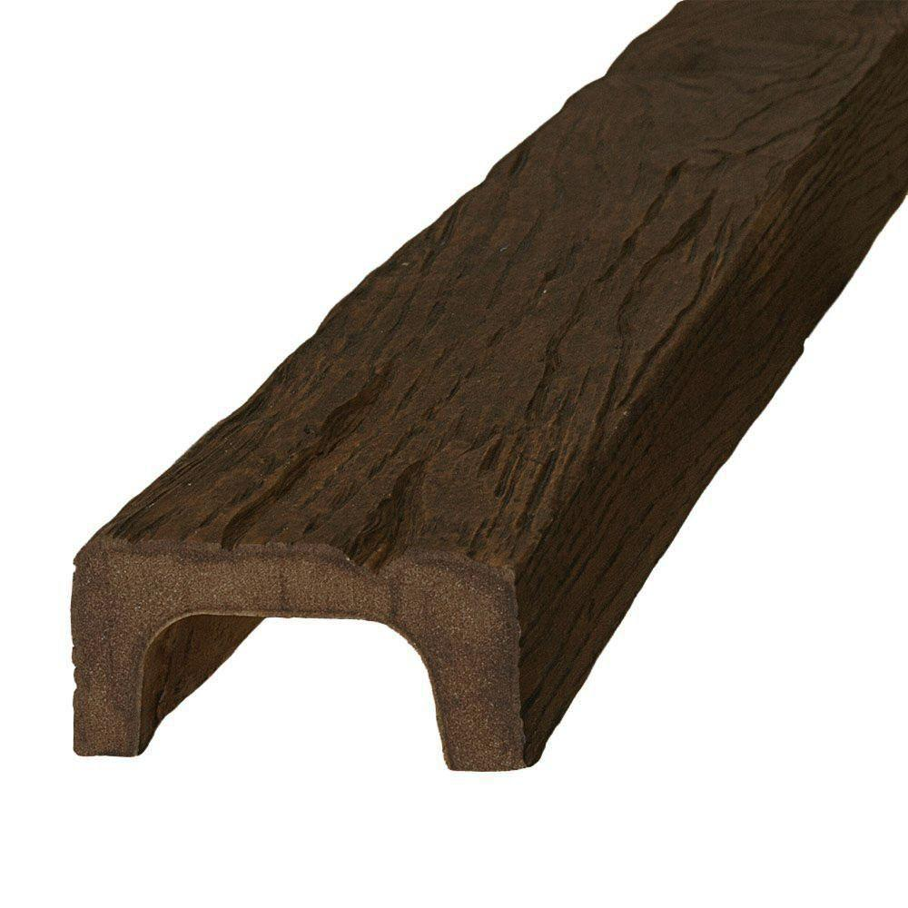 American Pro Decor 4-3/8 in. x 2-1/4 in. x 13 ft. Modern Faux Wood Beam