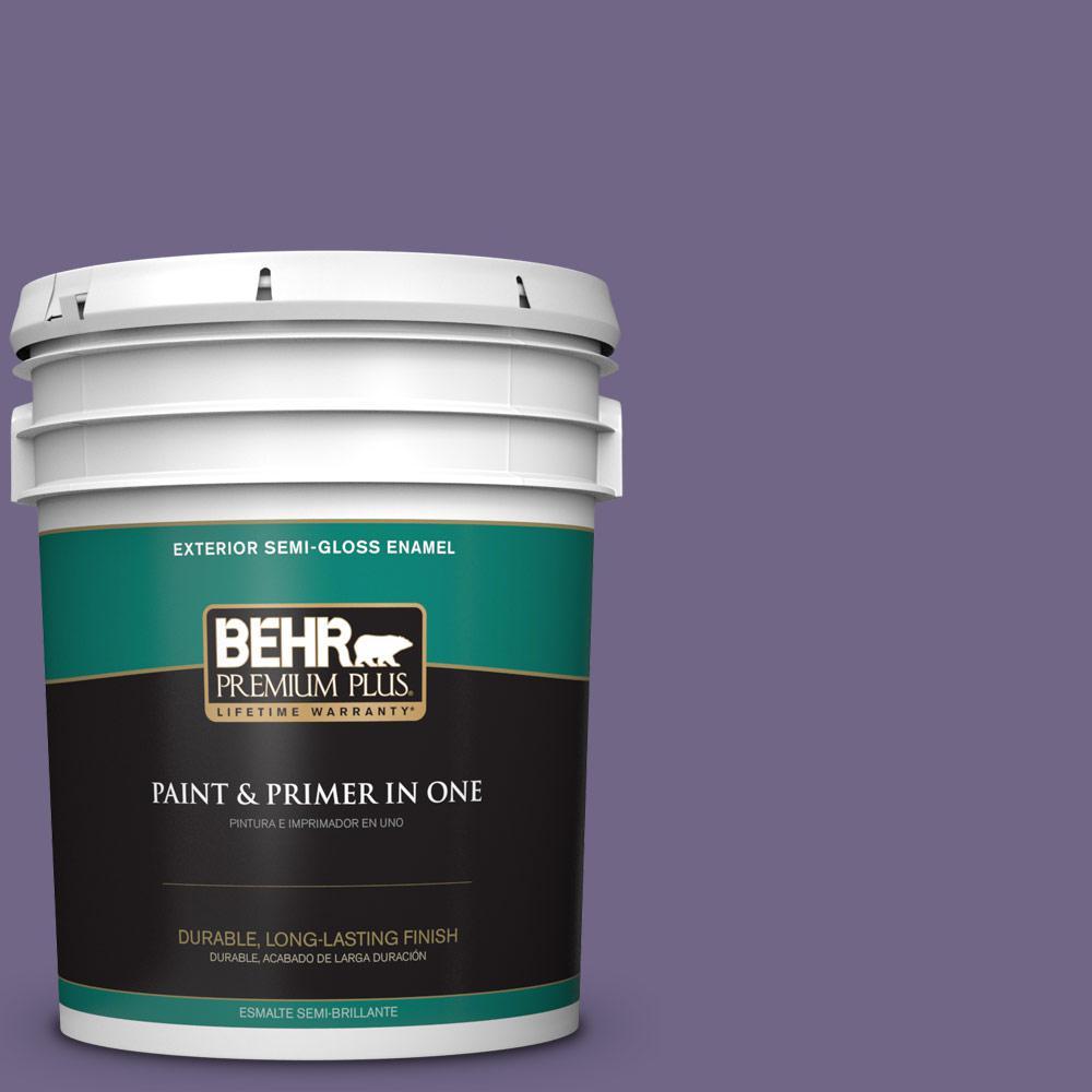 5 gal. #PPU16-18 Hyacinth Arbor Semi-Gloss Enamel Exterior Paint