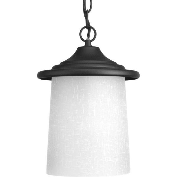 Essential Collection 1-Light Outdoor Black Hanging Lantern
