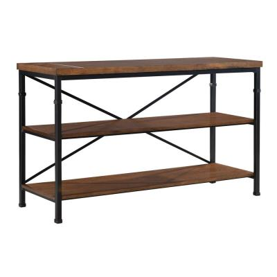 Austin 50 in. Black and Ash Veneer Particle Board TV Stand Fits TVs Up to 40 in. with Built-In Storage