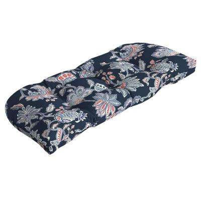 Caroline Tufted Outdoor Settee Cushion