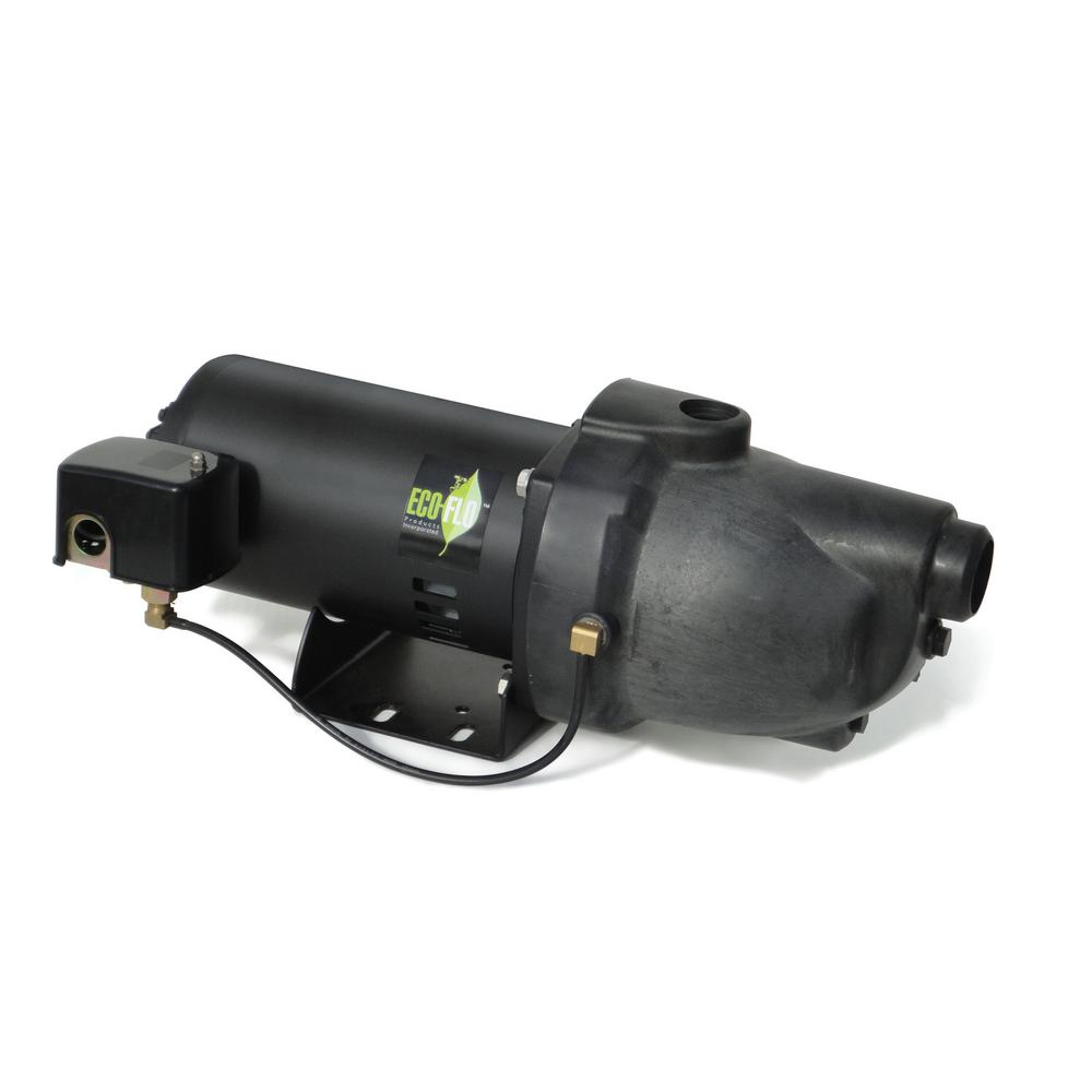 ECOFLO ECO FLO 1/2 HP Plastic Shallow Well Jet Pump