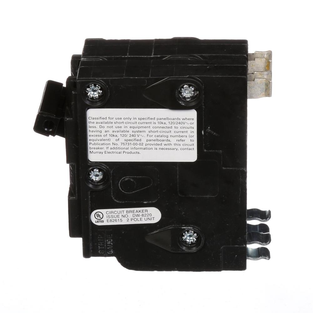 Double Pole Siemens D250 Circuit Breaker 50 Amp QO Replacement
