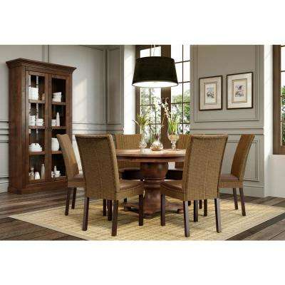 Brown Rustic Leather Dining Chairs