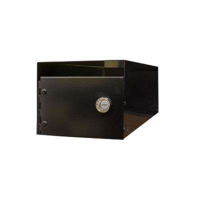 Lewiston Black Post Mount Locking E1 Economy Mailbox Insert