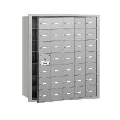 3600 Series Aluminum Private Front Loading 4B Plus Horizontal Mailbox with 35A Doors (34 Usable)
