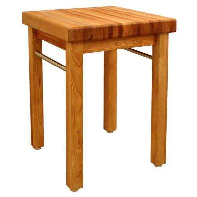 French Country Natural Kitchen Utility Table
