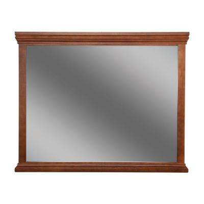 Brentwood 35 in. L x 42 in. W Framed Wall Mirror in Amber