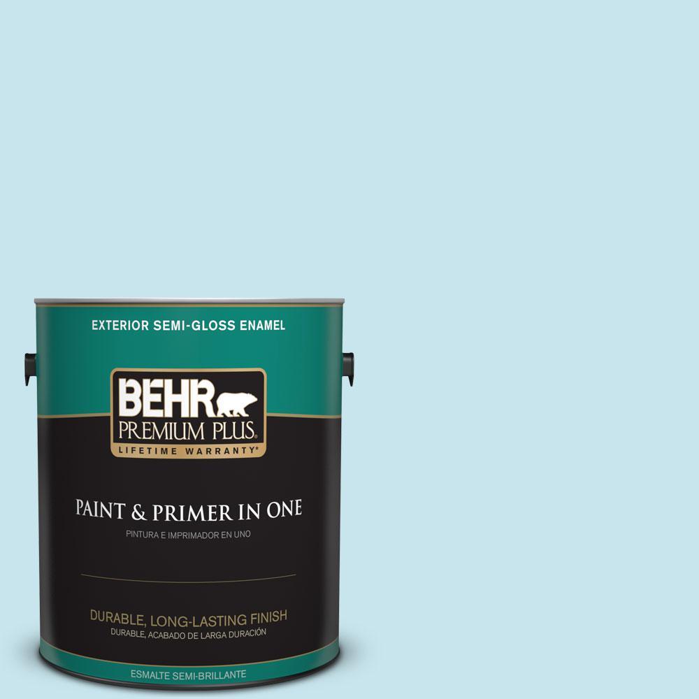 1-gal. #M480-2 Igloo Blue Semi-Gloss Enamel Exterior Paint