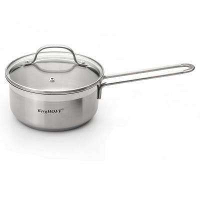 Bistro 1.5 Qt. Stainless Steel Saucepan with Glass Lid