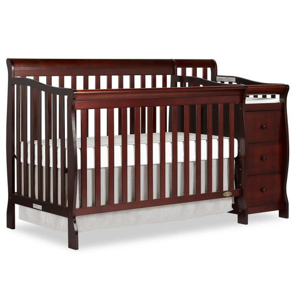 Dream On Me Brody Espresso 5-in-1 Convertible Crib with Changer 620-E
