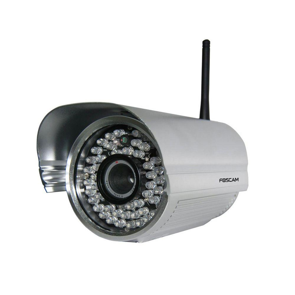 Foscam Wireless 480p Outdoor Bullet Shaped IP Security Camera, Silver
