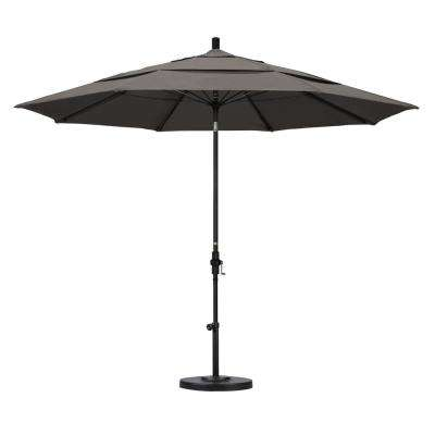 Amazing 11 Ft. Fiberglass Collar Tilt Double Vented Patio Umbrella ...