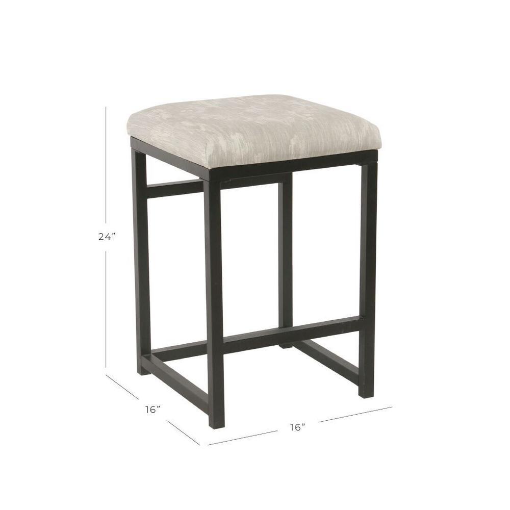 Fantastic Homepop Blake Backless 24 In Gray Bar Stool K7446 F2183 Short Links Chair Design For Home Short Linksinfo