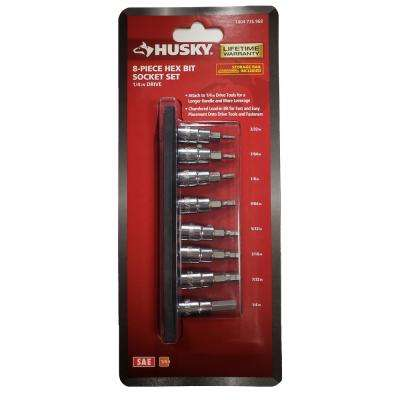 1/4 in. Drive SAE Hex Bit Socket Set (8-Piece)