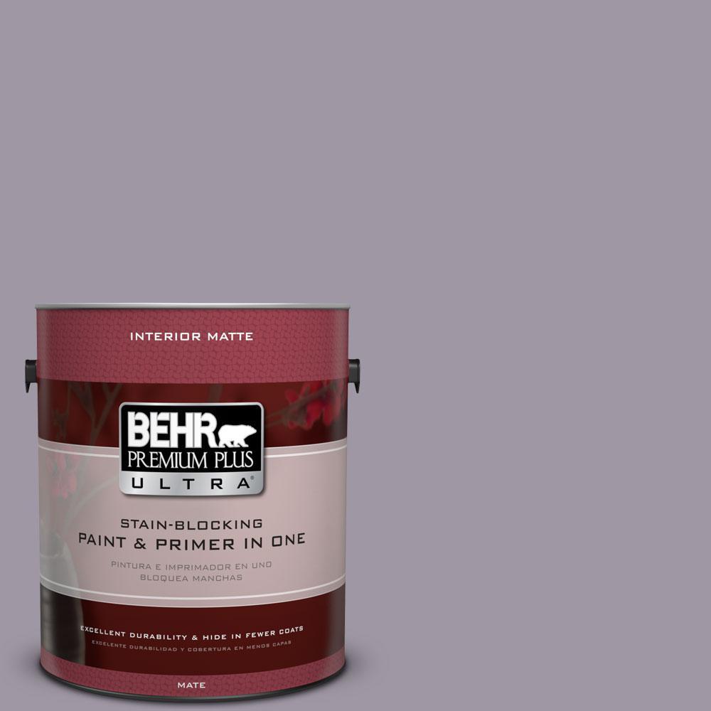 BEHR Premium Plus Ultra 1 gal. #N100-4 Fortune Matte Interior Paint