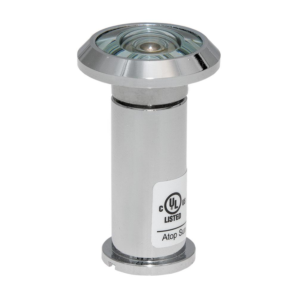 200-Degree Polished Chrome Door Viewer with Glass Lenses