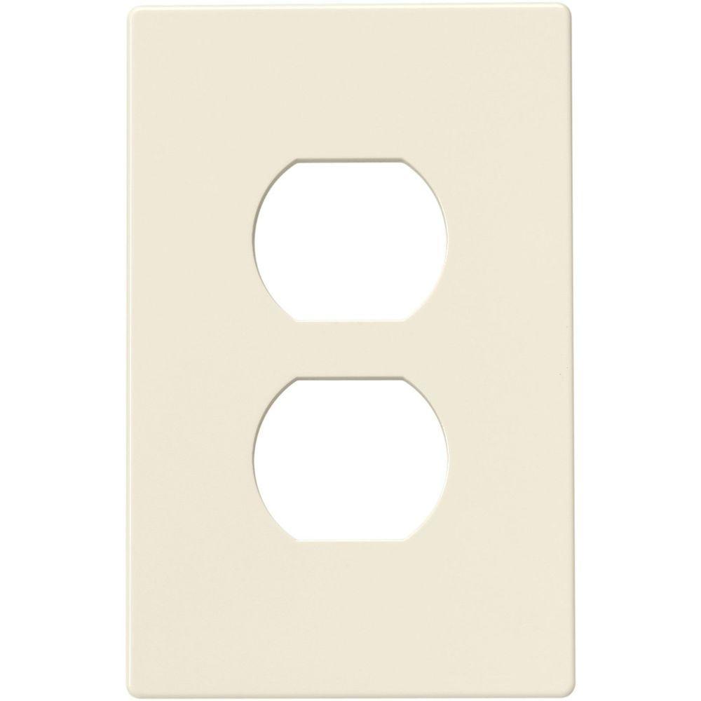 Eaton 2 Switch Duplex Nylon Wall Plate Light Almond