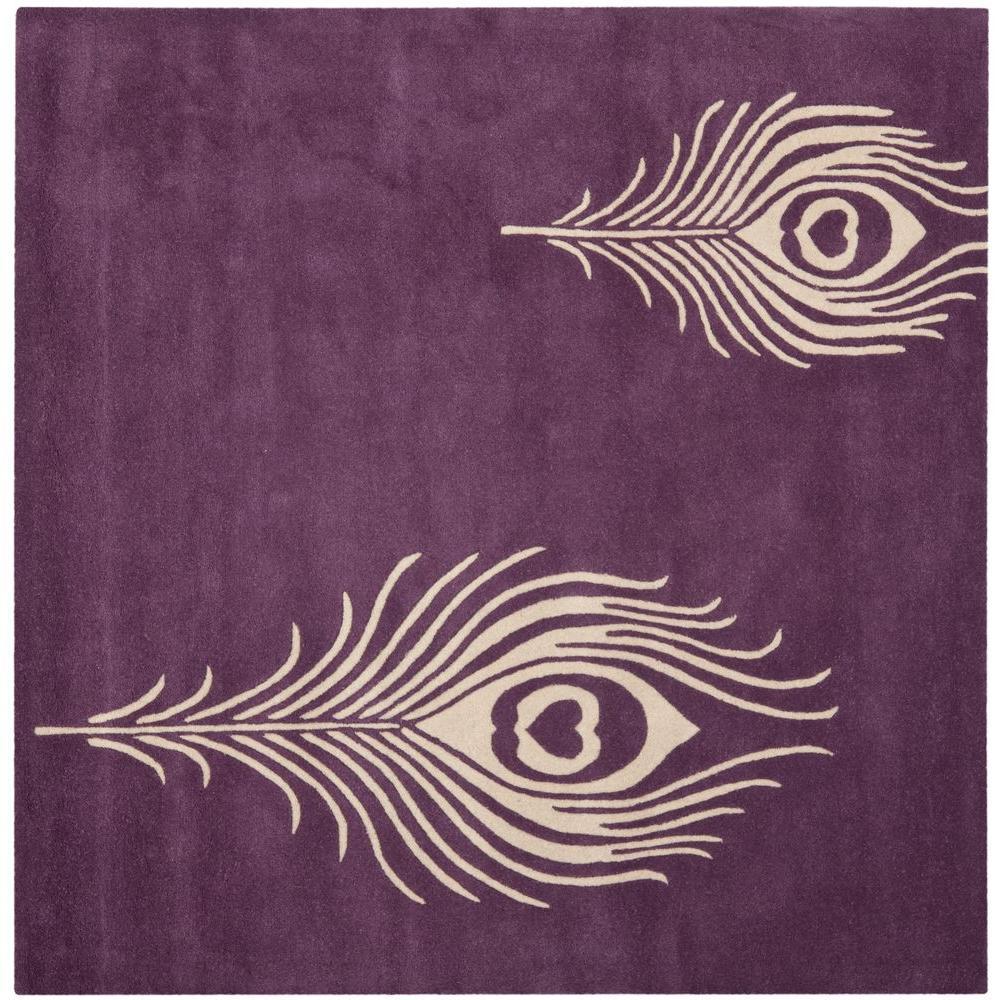 Soho Purple/Ivory 8 ft. x 8 ft. Square Area Rug