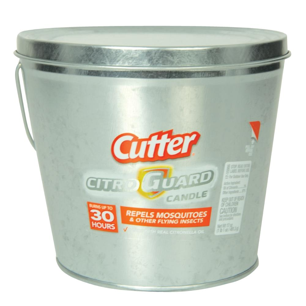 Cutter Citro Guard 17 Oz. Candle In Silver-HG-66384