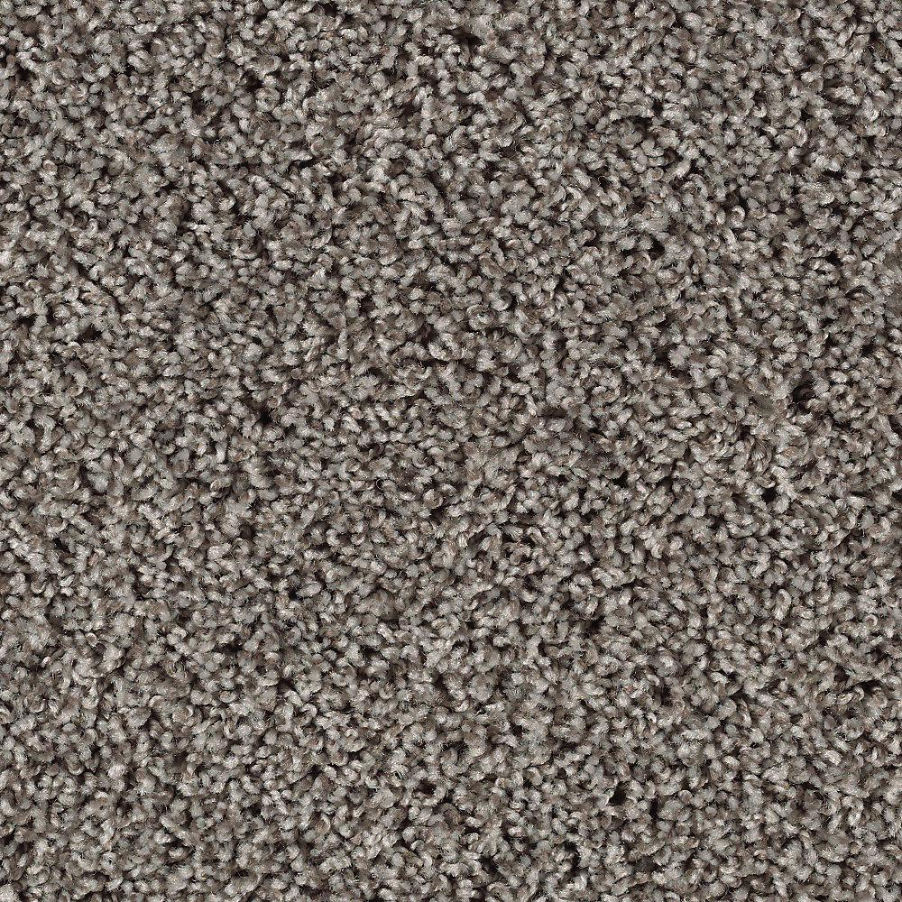 Carpet Sample - Kind Heart - Color Fedora Grey Texture 8 in. x 8 in.