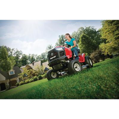 Pony 42 in. 15.5 HP Briggs and Stratton 7-Speed Manual Drive Gas Riding Lawn Mower