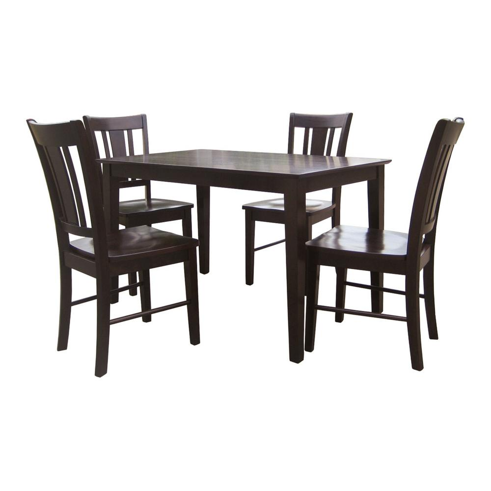 International Concepts San Remo 5-Piece Mocha Dining Set,...