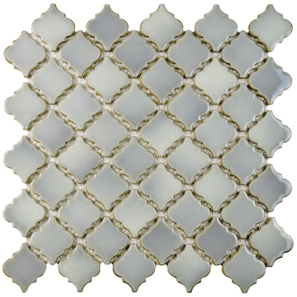 Hudson Tangier Grey Eye 12-3/8 in. x 12-1/2 in. x 5 mm Porcelain Mosaic Tile