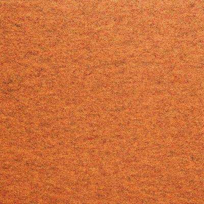 Fedora Clementine Texture 19.7 in. x 19.7 in. Carpet Tile (6 Tiles/Case)