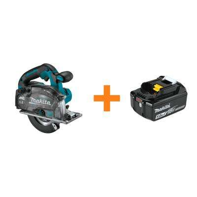 18-Volt LXT Brushless 5-7/8 in. Metal Cutting Saw with Electric Brake with bonus 18-Volt LXT Battery Pack 5.0 Ah