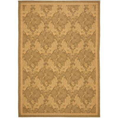 Courtyard Gold/Natural 9 ft. x 12 ft. Indoor/Outdoor Area Rug