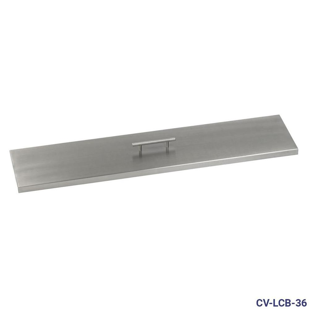 American Fire Glass 36 in. x 6 in. Stainless Steel Cover Linear Drop-In Fire Pit Pan