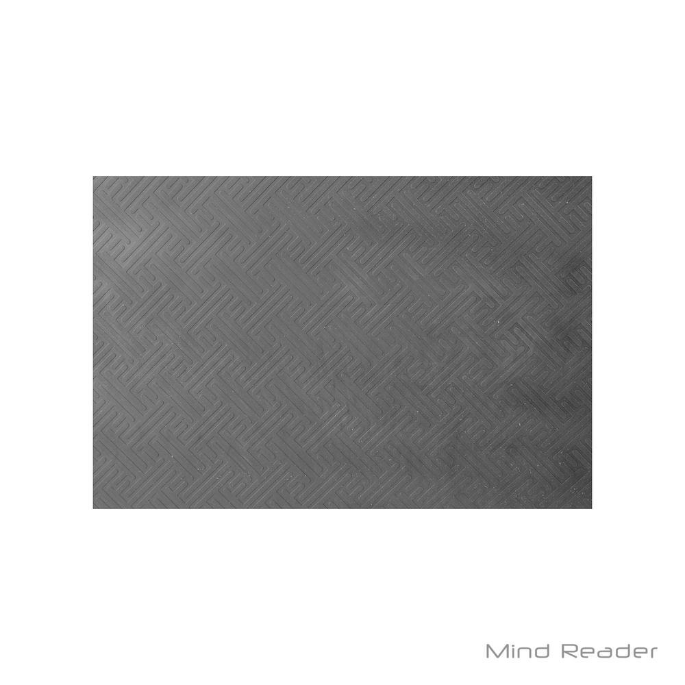 Mind Reader Black 35.25 in. x 19.5 in. x 1 in. Rubber Anti Fatigue Mat