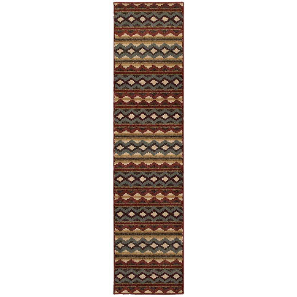 Home Decorators Collection Chalet Multi 2 ft. x 8 ft. Runner Rug