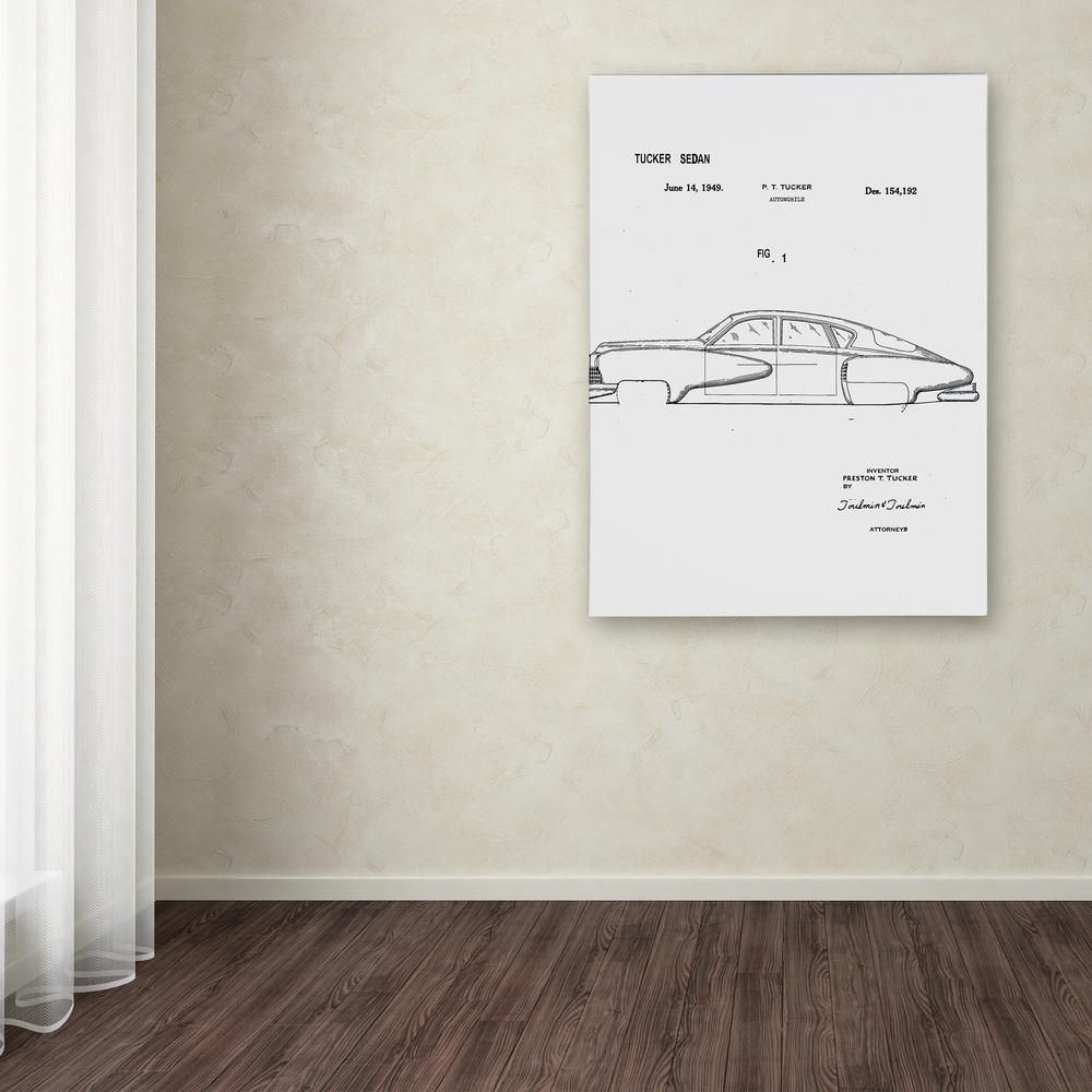 Trademark Fine Art 32 In X 24 In Quot Tucker Sedan Patent