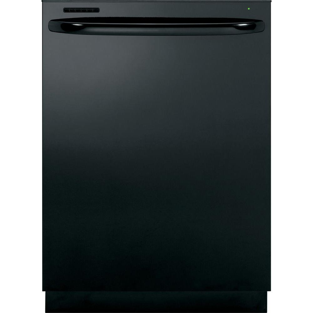 GE Adora Top Control Dishwasher in Black with Stainless Steel Tub and Steam Cleaning-DISCONTINUED