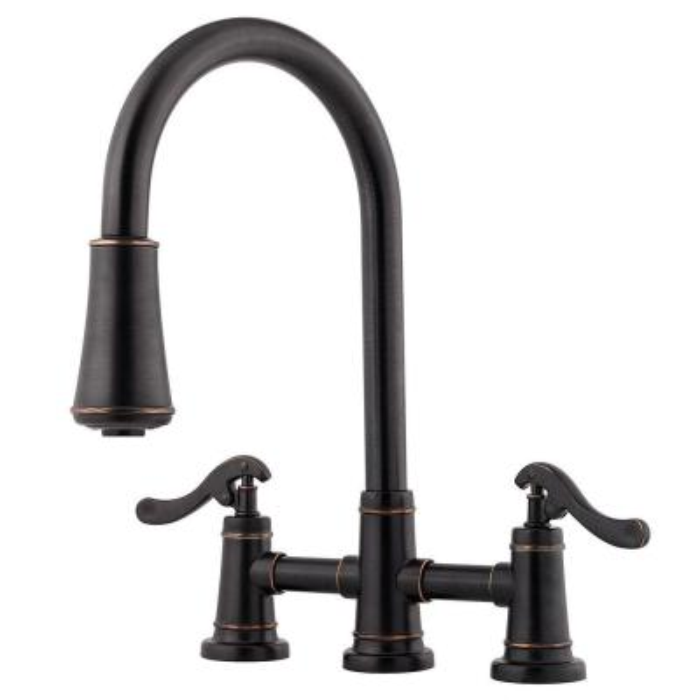 Ashfield 2-Handle Pull-Down Sprayer Kitchen Faucet in Tuscan Bronze