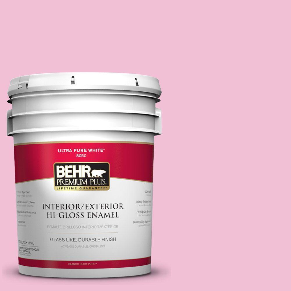 5-gal. #100B-4 Pink Chintz Hi-Gloss Enamel Interior/Exterior Paint