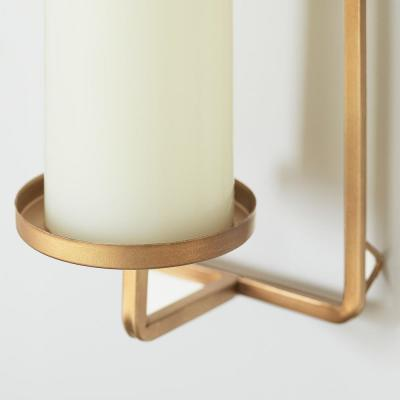 Gold Metal Wall Sconce Candle Holder (Set of 2)