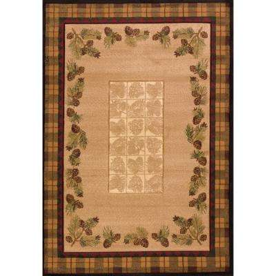 Designer Contours CEM Winter Pines Toffee 5 ft. 3 in. x 7 ft. 6 in. Area Rug