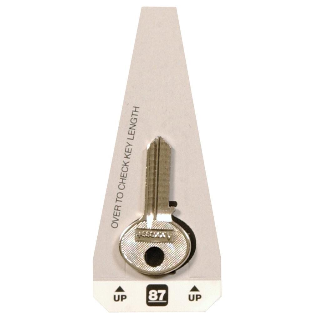#87 Blank Corbin Lock Key