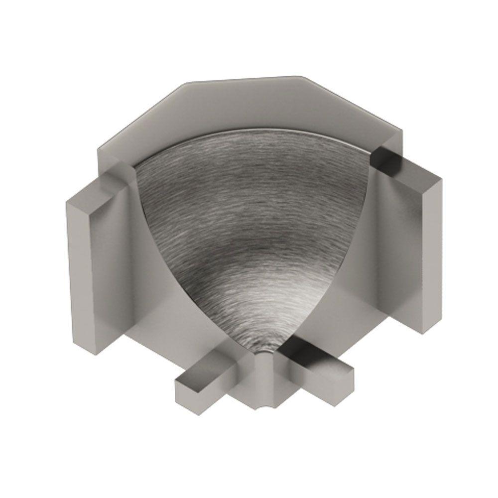 Dilex-AHK Brushed Nickel Anodized Aluminum 1/2 in. x 1 in. Metal 90 Degree Inside Corner