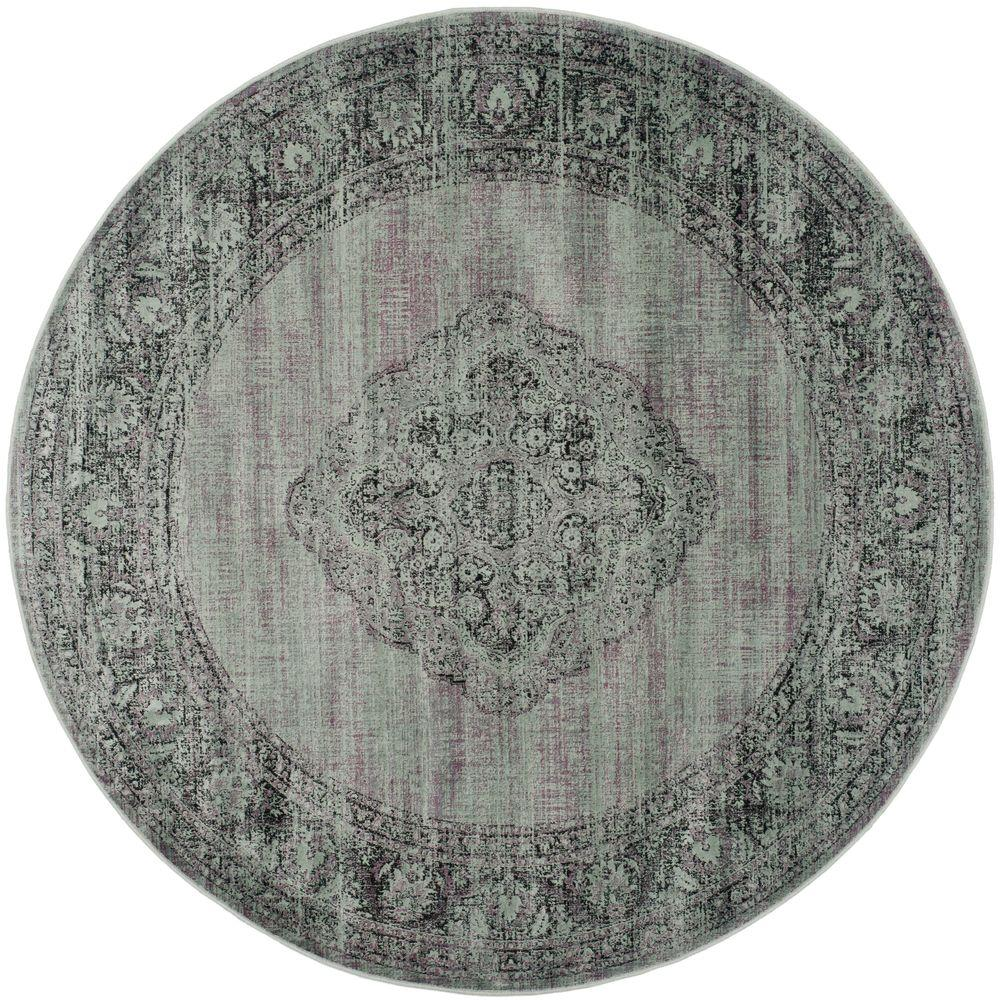 Safavieh Vintage Light Blue 8 Ft X Round Area Rug