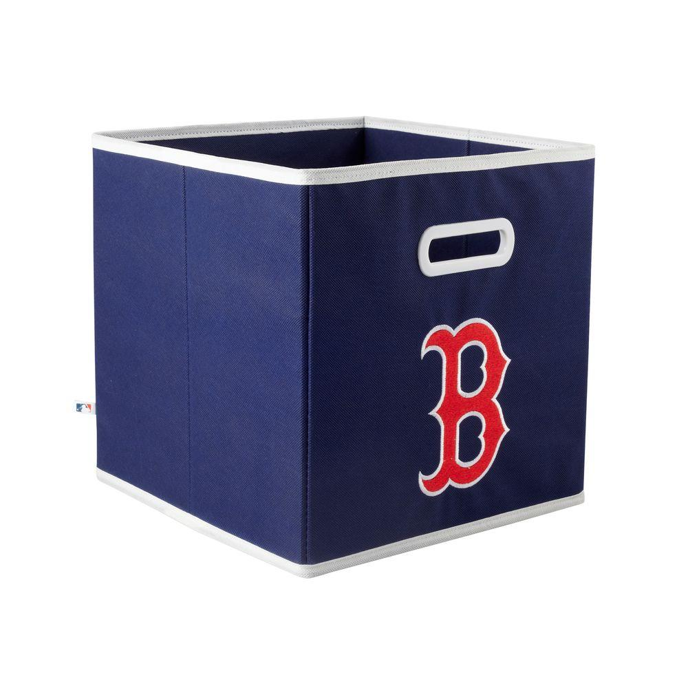 MyOwnersBox MLB STOREITS Boston Red Sox 10-1/2 in. x 10-1/2 in. x 11 in. Blue Fabric Storage Drawer