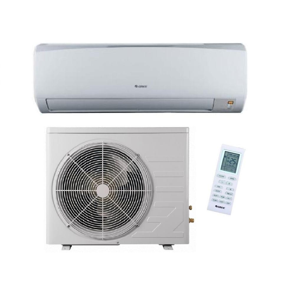 GREE High Efficiency 9,000 BTU 3/4 Ton Ductless Mini Split Air Conditioner and Heat Pump - 208-230V/60Hz